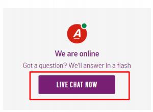 argos live chat