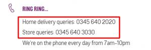 argos phone number