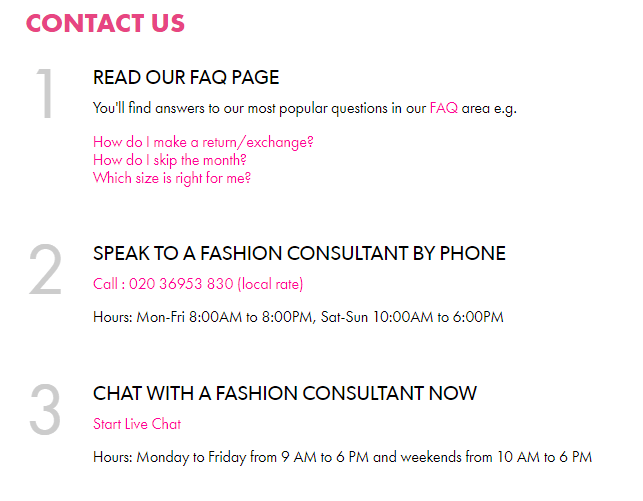 justfab customer service