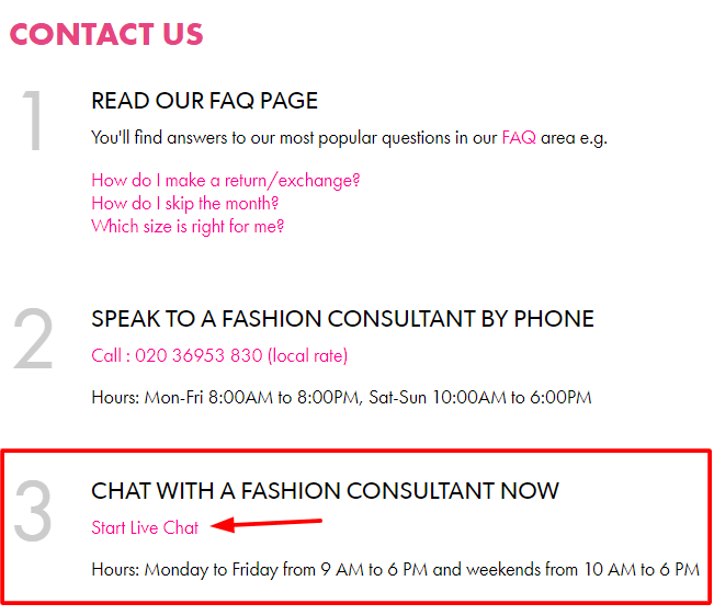justfab live chat