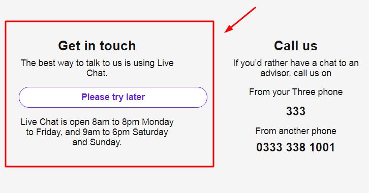 three live chat