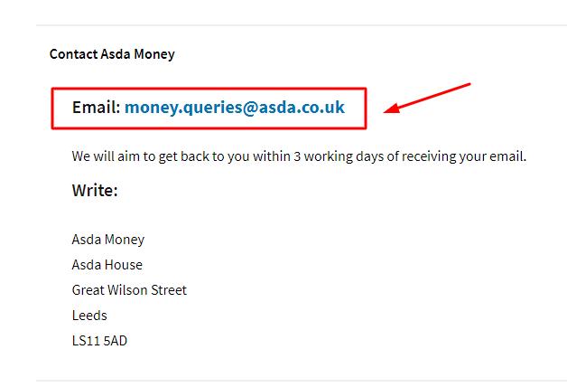 asda money email