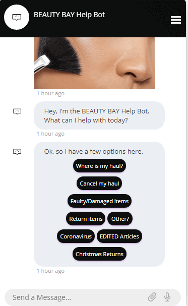 beauty buy live chat